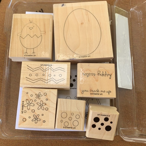 "Stampin' Up 7 piece ""A Good Egg"" stamp collection"